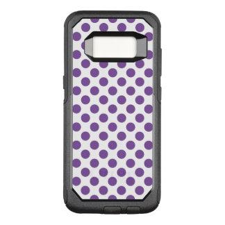 Purple Polka Dots OtterBox Commuter Samsung Galaxy S8 Case