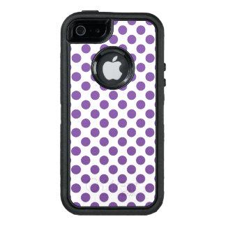 Purple Polka Dots OtterBox Defender iPhone Case