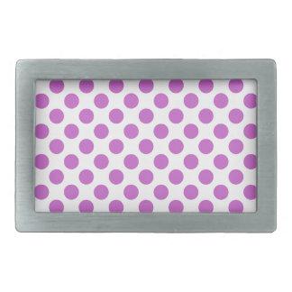 Purple polka dots pattern belt buckle