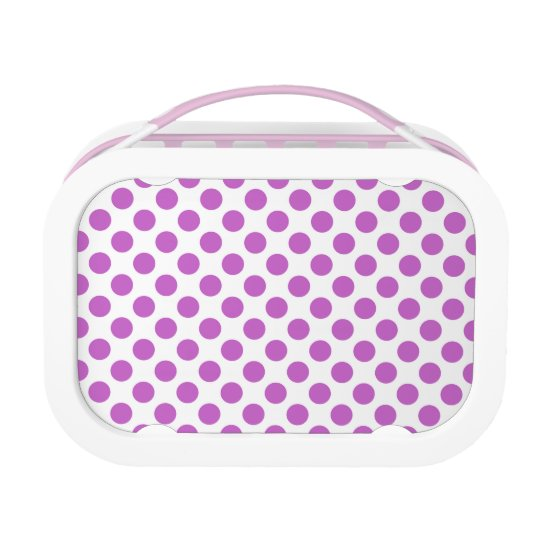 Purple polka dots pattern lunch box