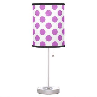 Purple polka dots pattern table lamp