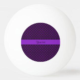 Purple Polka Dots Ping Pong Ball