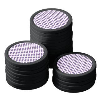 Purple Polka Dots Poker Chips