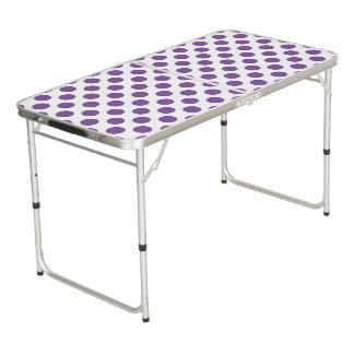 Purple Polka Dots Pong Table