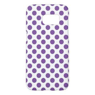 Purple Polka Dots Samsung Galaxy S7 Case