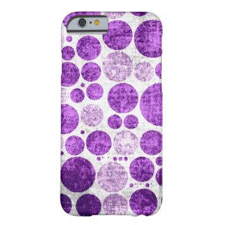 Purple polka dots seamless grunge wall background iPhone 6 case