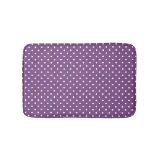 Purple Polka Dots Small Bath Mat