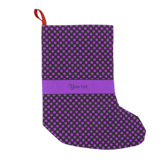 Purple Polka Dots Small Christmas Stocking