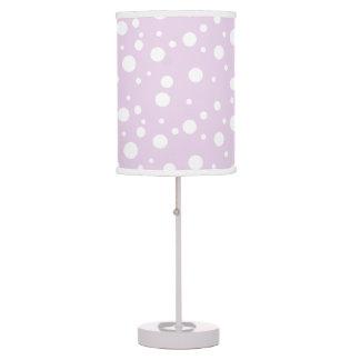Purple Polka Dots Table Light Table Lamp
