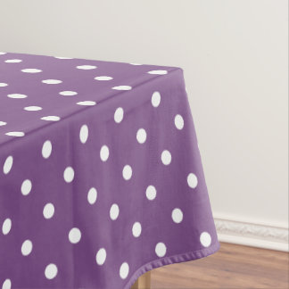 Purple Polka Dots Tablecloth