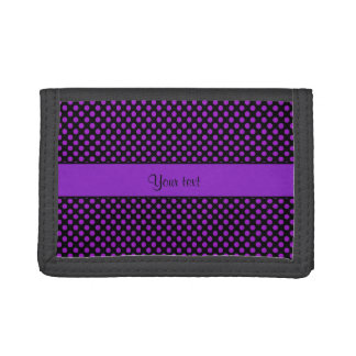 Purple Polka Dots Tri-fold Wallet