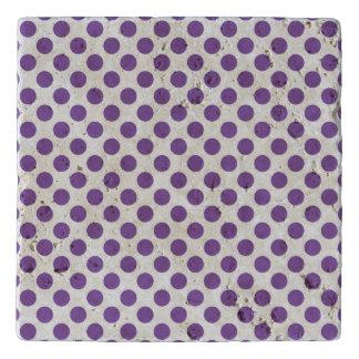 Purple Polka Dots Trivet