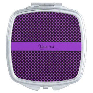 Purple Polka Dots Vanity Mirror