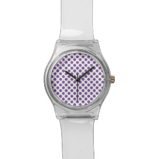 Purple Polka Dots Watch