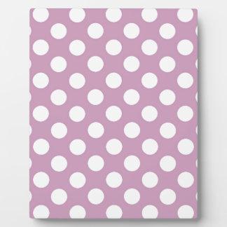 Purple Polka Party Plaque