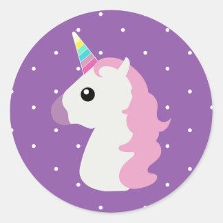 Purple Polkadots  Unicorns Emoji Stickers