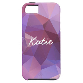 Purple Polygon Customisable Case For The iPhone 5