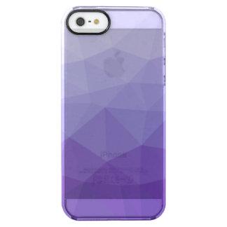 Purple Polygon Gradient Clear iPhone Case