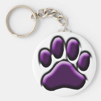 Purple Pooch Print Keychain