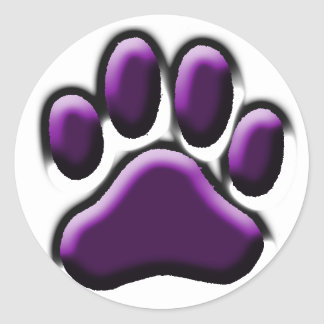 Purple Pooch Print Sticker