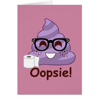 Purple Poop Emoji Oops Card