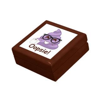 Purple Poop Emoji Oops Gift Box