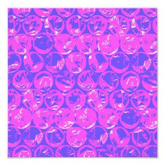 Purple pop art bubble wrap art photo