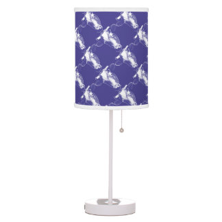 Purple Pop Art Cow Desk Lamps