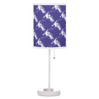 Purple Pop Art Cow Graphic Table Lamp