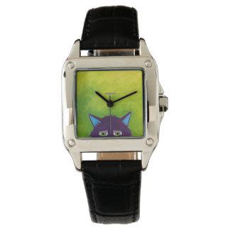 Purple Pop Up Pussie Wristwatch