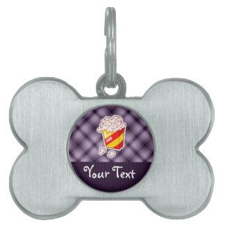 Purple Popcorn Pet Name Tags
