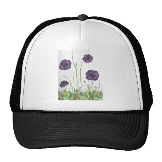 Purple Poppies in the grass Trucker Hat