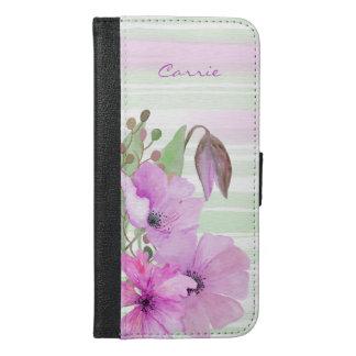 Purple Poppies iPhone 6S Plus Wallet Case