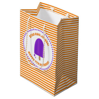 Purple Popsicle Birthday Medium Gift Bag