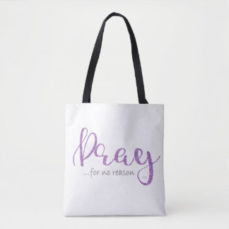 Purple Pray Tote