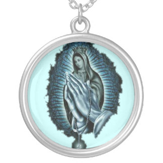 Purple Prayer Blessed Virgin Mary Necklace