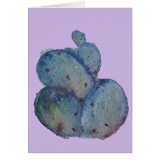 Purple Prickly Pear Watercolor Card