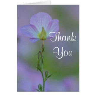 Purple Primrose Thank you Card