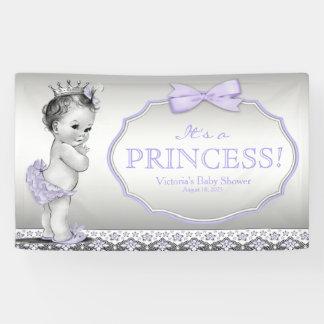 Purple Princess Baby Shower Banner