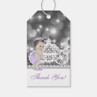 Purple Princess Baby Shower Gift Tags