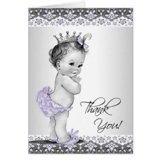 Purple Princess Baby Shower Thank You Card