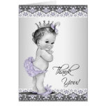 Purple Princess Baby Shower Thank You Note Card