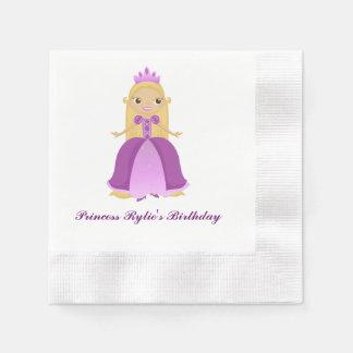 Purple Princess Birthday (personalize) Paper Napkins