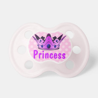 Purple Princess Crown Baby Pacifier