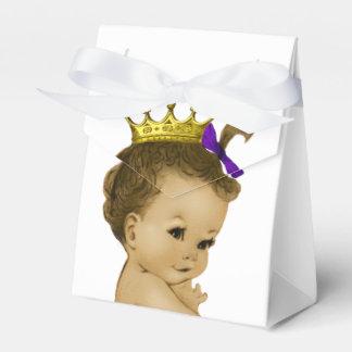 Purple Princess Ethnic Princess Baby Shower Favor Box