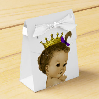 Purple Princess Ethnic Princess Baby Shower Party Favor Boxes