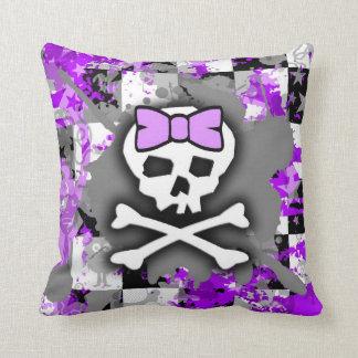 Purple Princess Skull Pillow