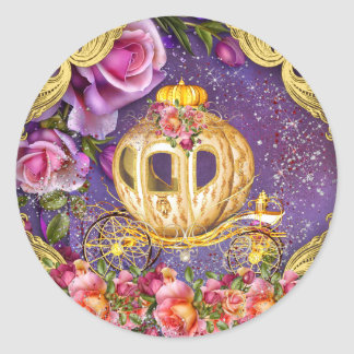 Purple Princess Stickers