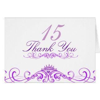 Purple Princess Tiara Thank You Card