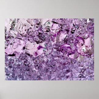 purple prismatic poster